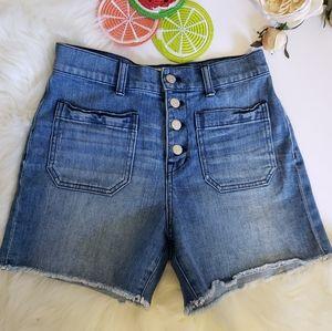 Madewell high rise denim shorts sz26